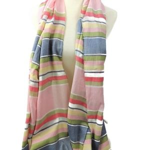 Tommy Bahama Accessories - Tommy Bahama Scarf Pastel Pink Blue Green 72 x 26